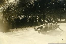 France Pyrenees Cauterets Course De Luge Bobsleigh Ancienne Photo 1910 - Sports