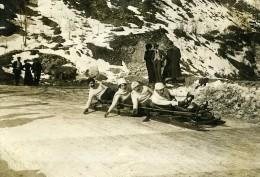 France Pyrenees Cauterets Course De Luge Bobsleigh Ancienne Photo 1910