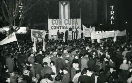 Uruguay Montevideo Manifestations Pro Cubaine Cuba Ancienne Photo 1964 - Places
