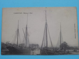 CARENTAN Bateaux à Quai ( Gosselin ) Anno 1916 ( Zie Foto Voor Details ) !! - Carentan