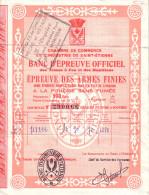 VAUCLUSE - MONTEUX -Y.VEYRIER - ARTICLES DE CHASSE - BD MARECHAL FOCH -BANC D'EPREUVE OFFICIELE-PREUVE DES ARMES FINIES - Documentos Antiguos