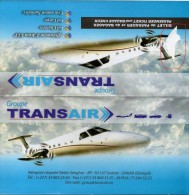 AFRICA  SENEGAL TRANSAIR BILLET AVIATION AIRLINE PASSENGER TICKET - Tickets