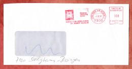 Brief, Francotyp-Postalia F21-1749, Mikrofilm-Esslingen Dr. Arndt Kienlin, 100 Pfg, 1991 (28951) - BRD