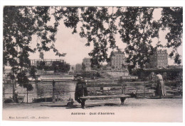 CPA ASNIERES 92 QUAI D ASNIERES PETITE ANIMATION - Asnieres Sur Seine