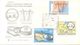 GRANDES OBRAS DE INFRAESTRUCTURA SERIE COMPLETA ARGENTINA 1969 ATUCHA EL CHOCON CERROS COLORADOS TUNEL SUBFLUVIAL - Atom