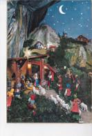 CRECHE, Joyeux Noël, Belgique, Ed. Garami 1960 Environ - Noël