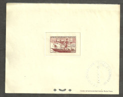 AEF AFRIQUE ECUATORIALE, EPREUVE, PROOF YVERT PA 42. SEAPLANE , CANOE, HIDROAVION. - A.E.F. (1936-1958)