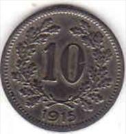 Österreich - AUSTRIA, 10 HELLER 1915 - Oesterreich