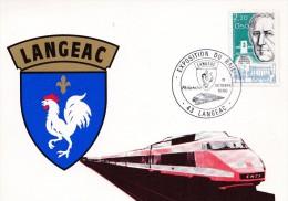 LANGEAC  EXPOSITION DU RAIL  11/10/1986 (dil184) - 1980-89
