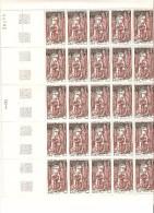 FRANCE   FEUILLE DE 25  DU N° 1496 NEUF ** MNH DE1966 - Feuilles Complètes