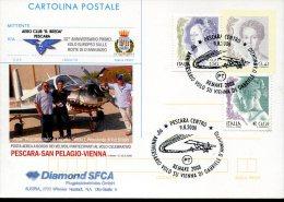 6343 Italia, Special Postmark  Pescara 2008   Anniversary Of The Flight To Vienna Of Gabriele D´annunzio - Célébrités