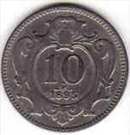 Österreich - AUSTRIA, 10 HELLER 1895 - Oesterreich