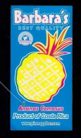 # PINEAPPLE BARBARA'S ANANAS COMOSUS Fruit Tag Balise Etiqueta Anhanger Ananas Pina Costa Rica - Fruits & Vegetables