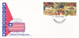 Liberia FDC 1993 Animals (L77-13) - Francobolli