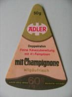 Etiquette Fromage - ADLER - 1 Portion Mit Champignons 60% Export - Allemagne  A Voir ! - Fromage