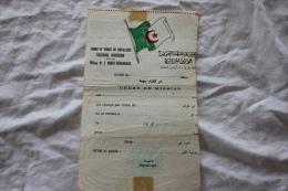ORDRE DE MISSIOND UN SOLDAT DU FLN WILAYA N 1 AURES NEMENCHAS - Documents