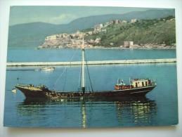 PIZZO  NAVE MAURO SANTE   - SHIP   NAVE   VIAGGIATA  COME DA FOTO - Chiatte, Barconi