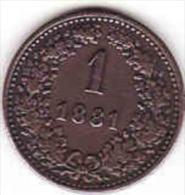 Österreich - AUSTRIA, 1 KREUZER 1881 - Oesterreich