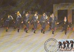 Carte-Maximum GRECE N°Yvert 1581 / Danses Grecques - Maximum Cards & Covers