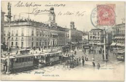 CARTE POSTALE 1906 AVEC CACHET BLEU ESTAFETA DEL CONGRESO - Covers & Documents