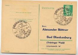 SKI-LÄUFER Oberhof 1962 DDR P68 Postkarte PRIVATER ZUDRUCK - Ferien & Tourismus