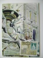 1985  ROMA  ESPOSIZIONE  MONDIALE FILATELICA     FRANCOBOLLO     MAXIMUM COVER PRIMO GIORNO  FIRST DAY - Francobolli (rappresentazioni)