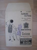 Enveloppe Vide Mode Nationale . Poudre Et Savon Crème Simon . - Textile & Clothing