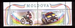 Moldova 2015, Motorbikes Cars Motocross Autocross, Set Of 2v, MNH - Moldova