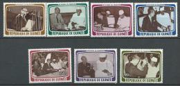 """Guinée YT 626 à 632 """" Visite V. Giscard D´Estaing """" 1979 Neuf** - Guinée (1958-...)"""