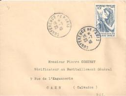 N° 762 Sur Lettre De CONFERENCE DE PARIS Du 26/7/48 - 1921-1960: Periodo Moderno