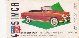Chromo Publicité SIMCA Cabriolet Week-end - Autres