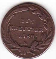 Österreich - AUSTRIA, 1 Kreuzer 1782 B - Oesterreich