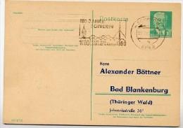 800 JAHRE SCHWERIN 1960 Auf DDR P68 Postkarte PRIVATER ZUDRUCK - Ferien & Tourismus