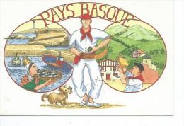 64-*PAYS BASQUE-EUSKAL HERRIA*Illustrateur Anne-Odile HUET-HUMEAU-Aperçu Du Pays Basque - Non Classés