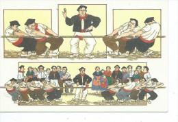 64-*PAYS BASQUE-EUSKAL HERRIA*Illustrateur Anne-Odile HUET-HUMEAU-*Partie De Forçe Basque; Tir A La Corde - Non Classés