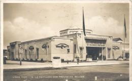 LIEGE 1930.12. LE PAVILLON DES PROVINCES BELGES - TRES JOLIE CARTE OFFICIELLE AAFFR AU VERSO .. 2 SCANES - Liege