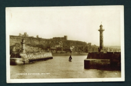 ENGLAND  -  Whitby  Harbour Entrance  Used Vintage Postcard As Scans - Whitby