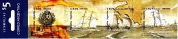 Argentina Booklet Scott #2030a Pane Of 4 Espamer ´98: Spanish Flag, Arms, Schooner, Brigatines - Carnets