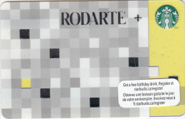 CANADA - Rodarte, Starbucks Card, CN : 6079, Unused - Gift Cards