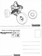 """PUBLICITE   L 23  """" MICHELIN  """"      """"MONDIAL DE L'AUTO  PARIS 2004   """"   CPM / CPSM  10X15 TBE - Publicité"""
