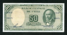 CHILE BILLETES: 50 PESOS 1958-1959: REVERSO MODIFICADO - Chile