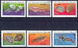 G018 FAUNA SCHELPEN SHELLS COQUILLAGES MUSHEL MARINE LIFE VIETNAM 1974 Gebr / Used - Coquillages
