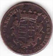 Ungarn - Hungary, 1 Denar 1761, Cu, 6,82g, 22 Mm, - Ungarn