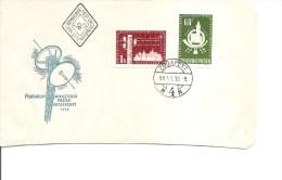 Poste ( FDC De Hongrie De 1958 Avec Timbres Non Dentelés à Voir) - Post