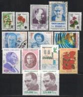 TÜRKEI 1990-1999 - Lot 14 Verschiedene  Used - 1921-... Republik