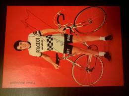 Robert BOULOUX Peugeot Michelin Autographe Manuscrit - Cycling
