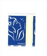 Lamouche TVP Bleu De Roulette Philaposte YT 4159 Avec Piquage à Cheval Latéral . Voir Le Scan . Maury N° 4139a : 100 € . - Variedades: 2000-09 Nuevos
