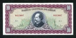 CHILE BILLETES; 10 ESCUDOS DEL PERIODO 1972 - 19758 (J. MANUEL BALMACEDA) - Chile