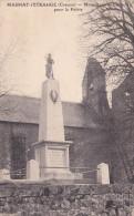 MAGNAT-L'ETRANGE (23) - Monument Aux Morts Pour La Patrie - Francia