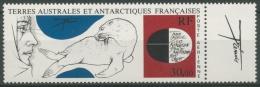 Franz. Antarktis 1985 Gemälde Forscher Und Robbe 205 ZF Mit Zierfeld Postfrisch - Terres Australes Et Antarctiques Françaises (TAAF)
